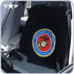 U.S. Marines Black Seat Towel