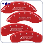 2010 2011 2012 Camaro SS Red Caliper Covers, SS Logo