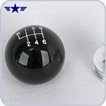 2011 - 2014 Mustang Black Shift Knob with Billet Collar