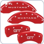 2010 - 2014 Mustang Red Caliper Covers, GT Logo