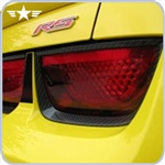 2010 - 2013 Camaro Tail Light Hydro Carbon Fiber Bezels