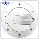 2010 - 2014 Mustang Shelby Billet Silver Fuel Door