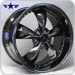 05 - 09 Mustang Motorsport 20 Inch Black Chrome Wheels & Tires