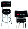 Bar Stool With Back Rest with C7 Corvette  Z06 logo and word