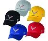 Paint Matching Hats with C7 Corvette crossed flags and word