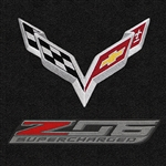 C7 Corvette Z06 Lloyd Front Embroidered Floor Mats Double Logo