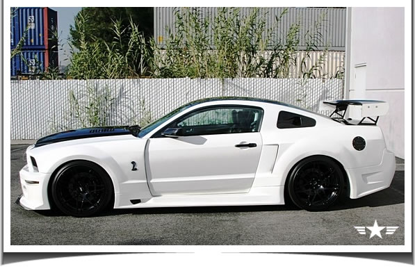 2005 2006 2007 2008 2009 mustang gt r wide body kit gt500. Black Bedroom Furniture Sets. Home Design Ideas