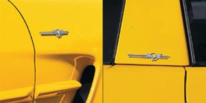 C5 Corvette Billet Badges