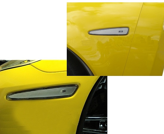 C6 Corvette Clear and Smoked Blackout Side Marker Lights