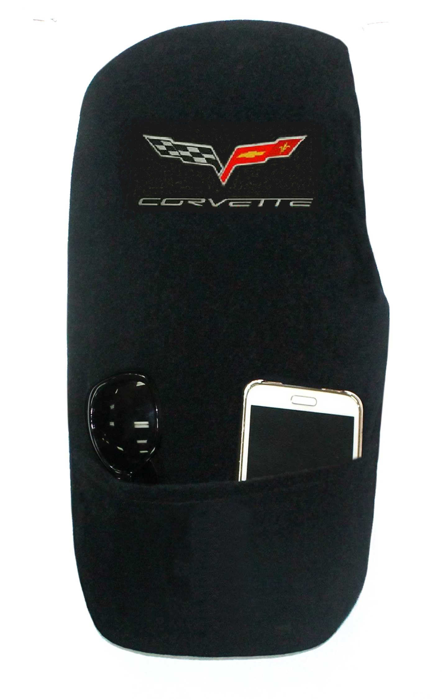 05-13 C6 Corvette Embroidered Emblem Center Console Cover