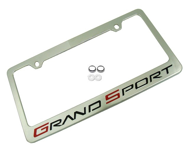 C6 Corvette Grand Sport License Plate Frame and Caps