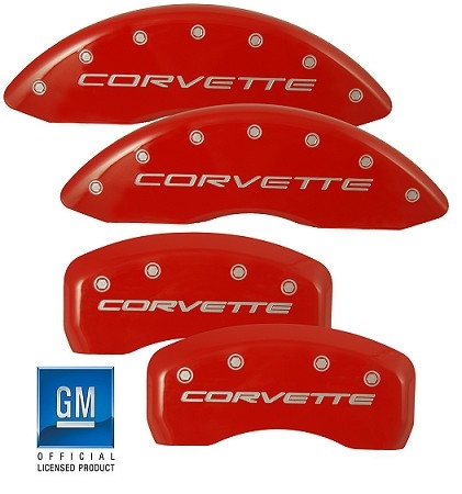 C6 Corvette Caliper Covers by MGP w/CORVETTE Logo