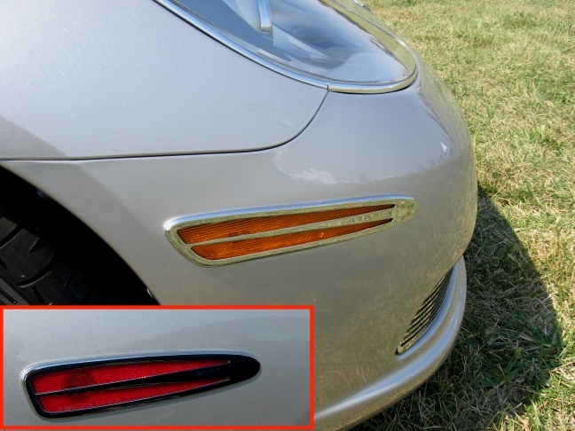 C6 Corvette Billet Side Marker Covers
