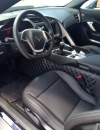 C7 Corvette Custom Leather Diamond Pattern Tunnel Drapes