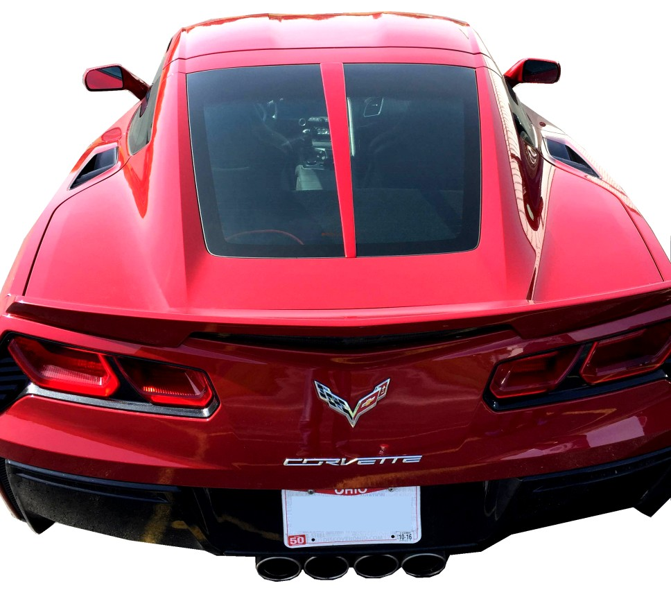 Painted Rear Split Window Trim - C7 Corvette