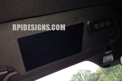 C7 Corvette Stingray Visor Warning Label Decals Covers