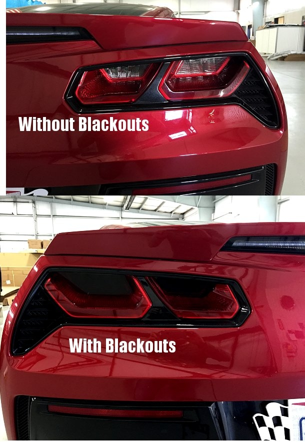 C7 Corvette Acrylic Taillight Blackout Kit (4pc)