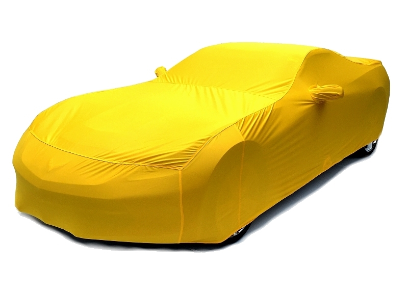 2014 2015 C7 Corvette Car Cover- Velocity Yellow Color Matched Indoor Stretch