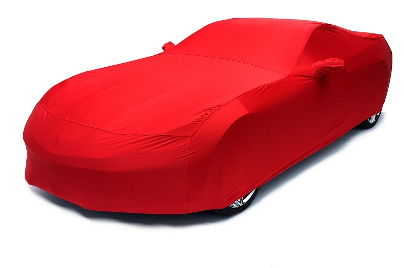 2014 2015 C7 Corvette Car Cover- Torch Red Color Matched Indoor Stretch