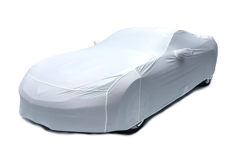 2014 2015 C7 Corvette Car Cover- Arctic White Color Matched Indoor Stretch
