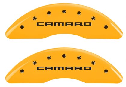 Camaro Caliper Covers Yellow with Logos 2016-2017