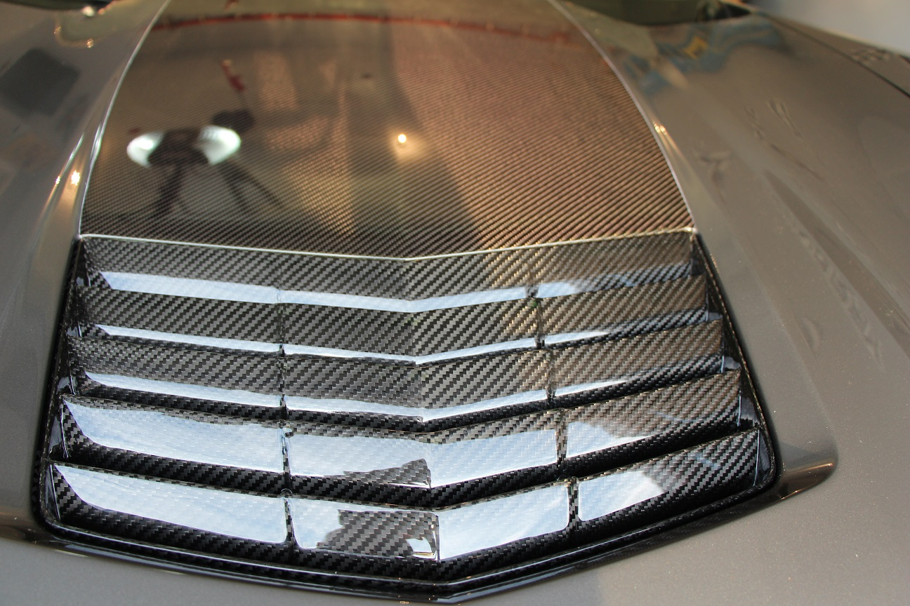 C7 Corvette Carbon Fiber APR Hood Vent