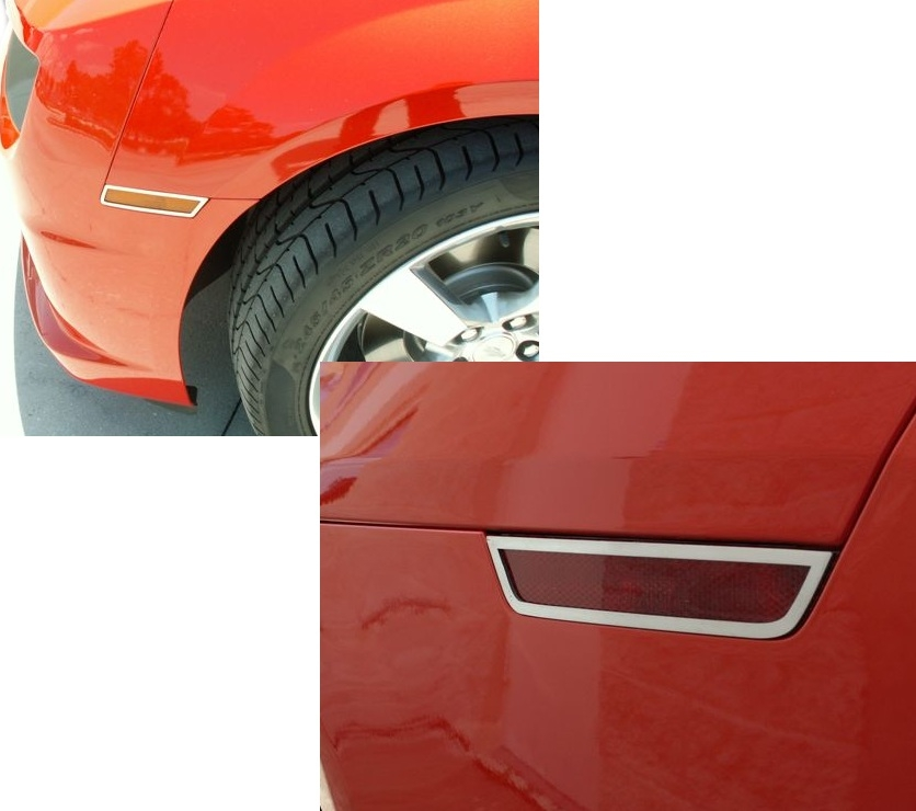 2010-2014 Stainless Side Marker Covers Kit