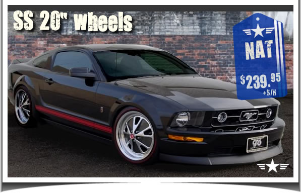 2005 2006 2007 2008 2009 Mustang 20 Inch SS Chrome Wheels by California Pony Cars