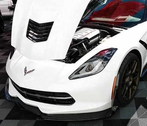 C7 Corvette APR Real Carbon Fiber Splitter Air Dam Track Pack