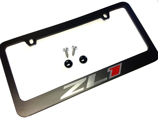 2010-2014 Camaro License Plate Frame Black ZL1