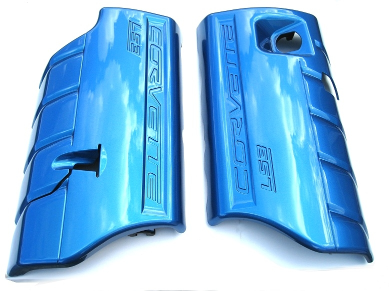C6 Corvette Painted Fuel Rail Covers Glass Like
