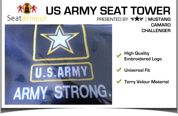 U.S. Army Logo Black Seat Towel