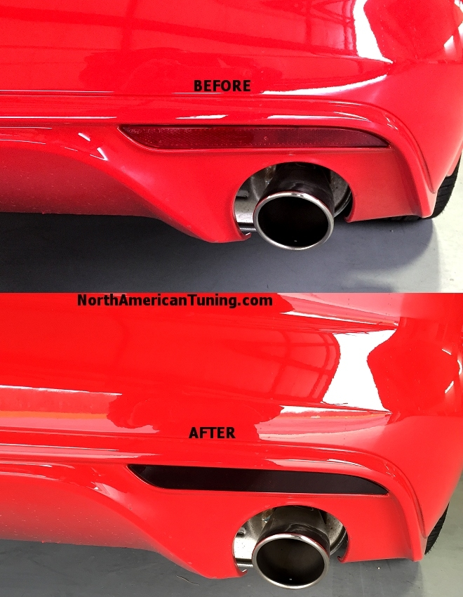 2015 Ford Mustang Rear Reflector Markers Blackouts