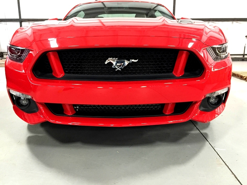 2015 Ford Mustang Painted Front Grille Pillar Cover
