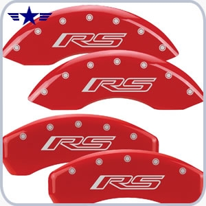2010 2011 2012 2013 2014 2015 Camaro RS Red Caliper Covers, RS Logo