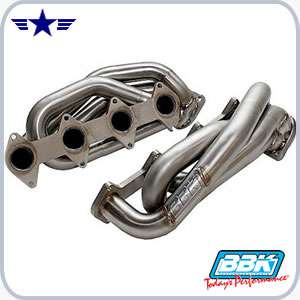 2005 - 2009 Mustang GT V8 BBK Shorty Headers, Stainless Steel