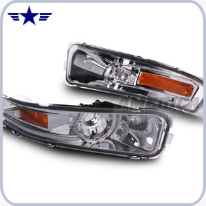 2005 - 2009 Mustang Clear Turn Signal Lens, Amber Corners