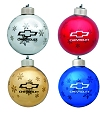 Christmas Tree Ornaments with Chevrolet Wording