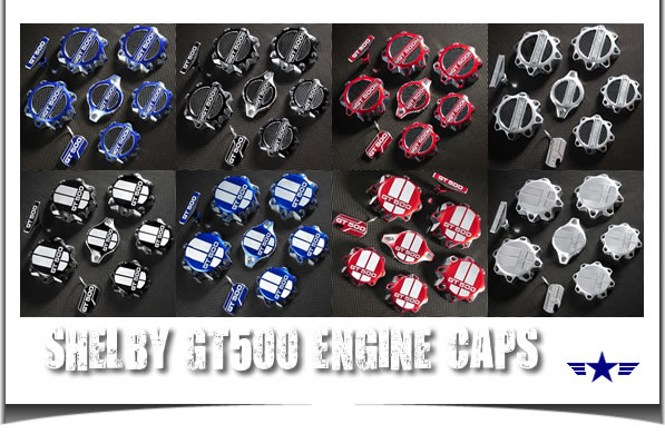 2011 2012 2013 Mustang Shelby GT500 Engine Caps Set