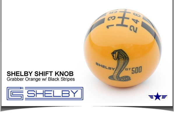 Shelby GT500 Shift Knob Grabber Orange with Black Stripes