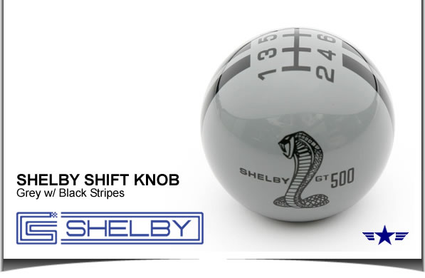 Shelby GT500 Shift Knob Grey with Black Stripes