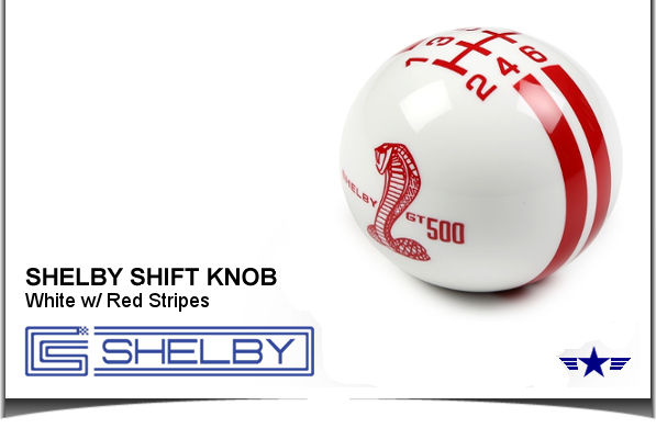 2007 - 2013 Mustang Shelby GT500 Shift Knob, S7M-7213-C-WR